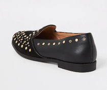 River Island Casual Style Faux Fur Studded Loafer & Moccasin Shoes