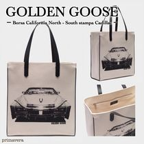 Golden Goose Casual Style Canvas A4 2WAY Totes