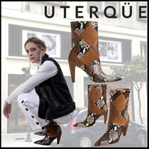 Uterque Casual Style Suede Leather Elegant Style