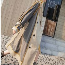 Glen Patterns Casual Style Long Trench Coats