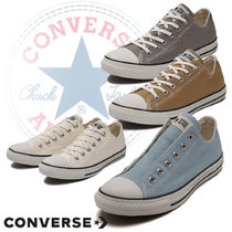 CONVERSE ALL STAR Plain Toe Casual Style Unisex Low-Top Sneakers