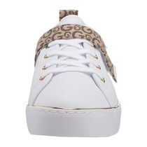 G BY GUESS Monogram Round Toe Rubber Sole Lace-up Casual Style