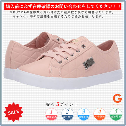 Round Toe Lace-up Casual Style Faux Fur Logo