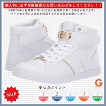 G BY GUESS Round Toe Lace-up Casual Style Faux Fur Low-Top Sneakers