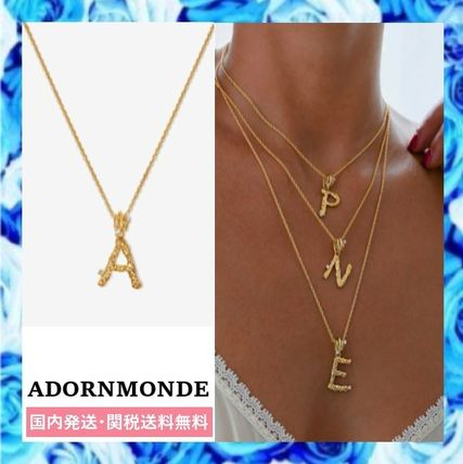 Casual Style Initial Chain Party Style Silver 14K Gold