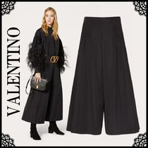 VALENTINO Casual Style Plain Culottes & Gaucho Pants