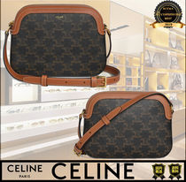 CELINE Casual Style Calfskin Lambskin Leather Party Style