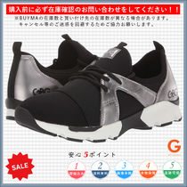 G BY GUESS Round Toe Lace-up Casual Style Bi-color Low-Top Sneakers
