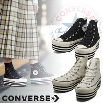 CONVERSE ALL STAR Platform Casual Style Platform & Wedge Sneakers