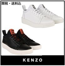 KENZO Casual Style Plain Low-Top Sneakers
