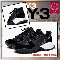 Y-3 Round Toe Rubber Sole Lace-up Casual Style Plain