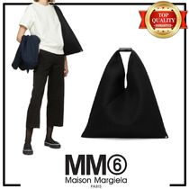 MM6 Maison Margiela Casual Style Leather Totes