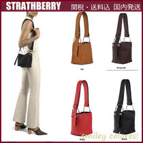STRATHBERRY Casual Style Leather Shoulder Bags