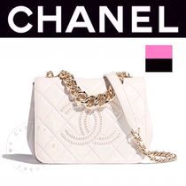 CHANEL MATELASSE Casual Style Lambskin Studded Street Style 2WAY Chain Plain