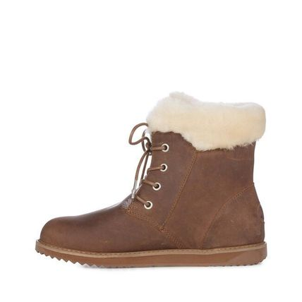 Lace-up Casual Style Sheepskin Fur Lace-up Boots
