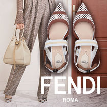 FENDI Dots Casual Style Leather Party Style Elegant Style