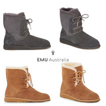 EMU Australia Lace-up Casual Style Sheepskin Lace-up Boots