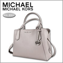 Michael Kors Casual Style Blended Fabrics A4 2WAY Plain Leather