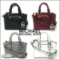 Michael Kors Casual Style 2WAY Plain Leather Elegant Style Satchels