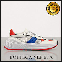 BOTTEGA VENETA Blended Fabrics Leather Sneakers