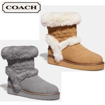 Coach Suede Leather Ankle & Booties Boots