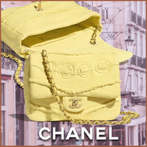 CHANEL Casual Style Plain Leather Elegant Style Shoulder Bags