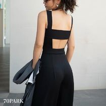 Casual Style Sleeveless Plain Long Party Style Dresses