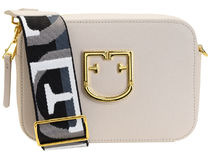 FURLA BRAVA Casual Style Vanity Bags Plain Leather Party Style