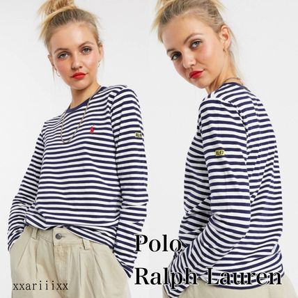Stripes Street Style Cotton T-Shirts