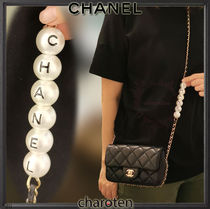 CHANEL MATELASSE Casual Style Lambskin Blended Fabrics 2WAY Chain Plain