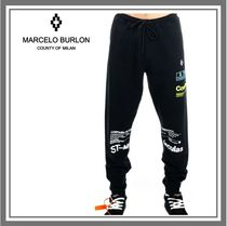 Marcelo Burlon Monogram Unisex Plain Pants
