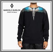 Marcelo Burlon Crew Neck Monogram Long Sleeves Other Animal Patterns