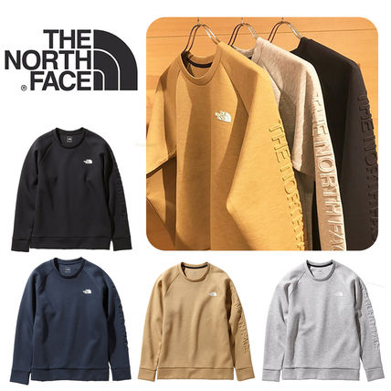 THE NORTH FACE Sweatshirts Unisex Sweat Plain Logo Outdoor Sweatshirts