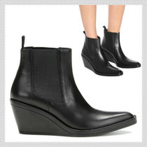 Acne Rubber Sole Casual Style Plain Leather Ankle & Booties Boots