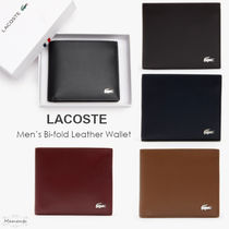 LACOSTE Plain Folding Wallet Logo Folding Wallets
