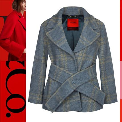 Other Plaid Patterns Wool Coats