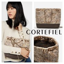 CORTEFIEL Casual Style Chain Elegant Style Shoulder Bags