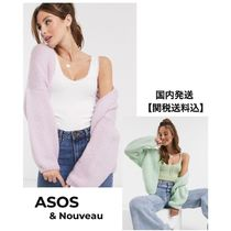 ASOS Short Casual Style Rib Dolman Sleeves Long Sleeves Plain