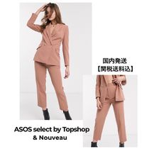 TOPSHOP Casual Style Linen Plain Long Party Style Office Style