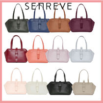 senreve Casual Style 2WAY Leather Party Style Office Style