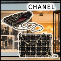 CHANEL 2020 SS CLUTCH BAG black clutches