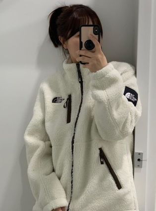 THE NORTH FACE WHITE LABEL Unisex Street Style Shearling Outerwear
