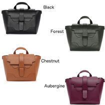 senreve Casual Style 2WAY Plain Leather Party Style Office Style