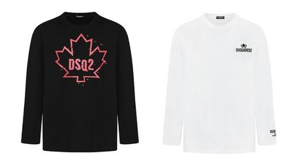 D SQUARED2 Long Sleeve Unisex Street Style Long Sleeves Cotton Long Sleeve T-shirt 6