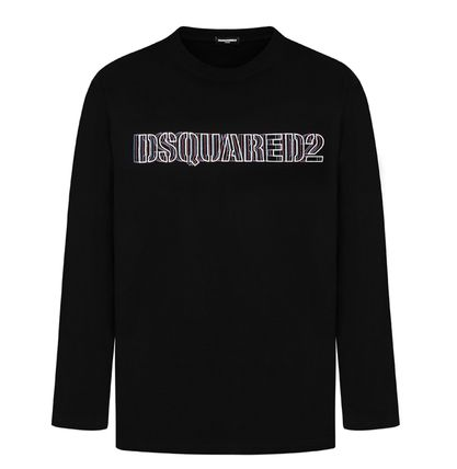 D SQUARED2 Long Sleeve Unisex Street Style Long Sleeves Cotton Long Sleeve T-shirt 17