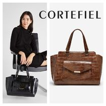 CORTEFIEL 2WAY Other Animal Patterns Elegant Style Bags