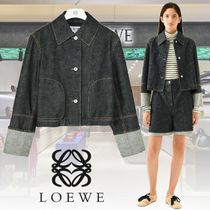 LOEWE Short Casual Style Denim Plain Jackets