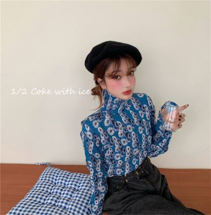Shirts & Blouses Flower Patterns Casual Style Long Sleeves Medium 6