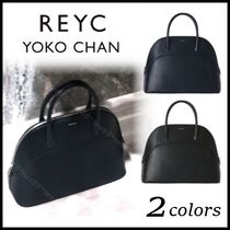 YOKOCHAN Casual Style A4 Plain Leather Party Style Office Style