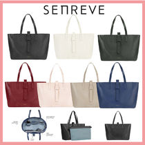 senreve Casual Style Leather Party Style Office Style Elegant Style